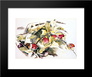 Plums: Modern Black Framed Art Print by Charles Demuth