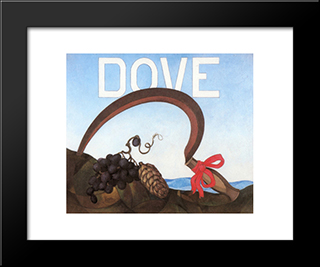 Poster Portrait Dove: Modern Black Framed Art Print by Charles Demuth
