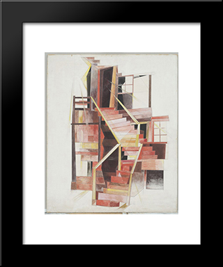 Stairs, Provincetown: Modern Black Framed Art Print by Charles Demuth