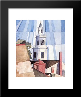 The Tower: Modern Black Framed Art Print by Charles Demuth