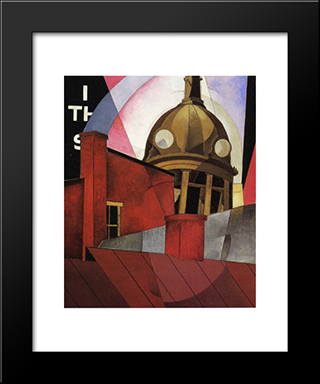 Welcome To Our City: Modern Black Framed Art Print by Charles Demuth