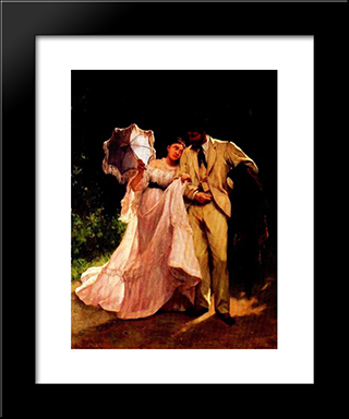 Honeymoon: Modern Black Framed Art Print by Charles Hermans