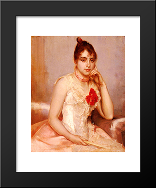 Spanish Beauty: Modern Black Framed Art Print by Charles Hermans