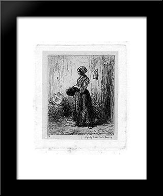 Femme: Modern Black Framed Art Print by Charles Jacque