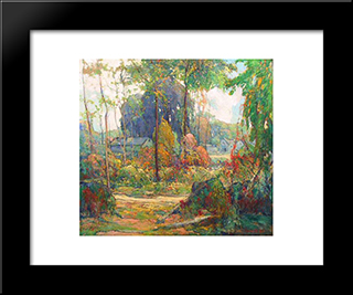 Autumn Design: Modern Black Framed Art Print by Charles Reiffel