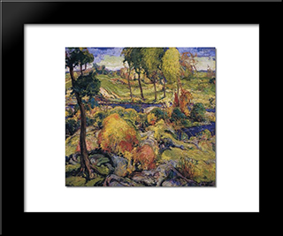 Autumn Design No. 2: Modern Black Framed Art Print by Charles Reiffel