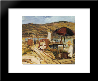 Ballast Point California: Modern Black Framed Art Print by Charles Reiffel