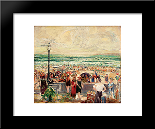 Holiday, Mission Beach: Modern Black Framed Art Print by Charles Reiffel