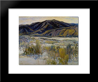 In The Banner Valley: Modern Black Framed Art Print by Charles Reiffel
