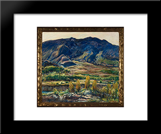 In The San Felipe Valley: Modern Black Framed Art Print by Charles Reiffel