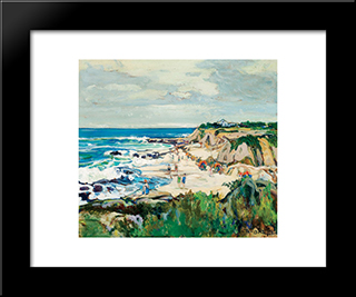 La Jolla Shores: Modern Black Framed Art Print by Charles Reiffel