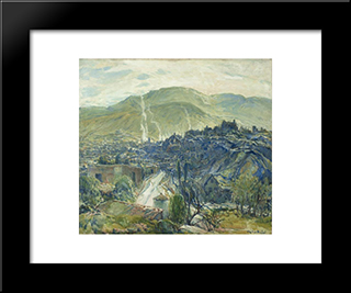 Morning, Nogales, Arizona: Modern Black Framed Art Print by Charles Reiffel