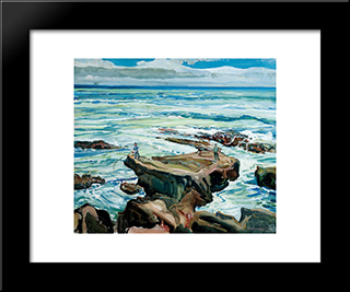 Morning At Laguna: Modern Black Framed Art Print by Charles Reiffel