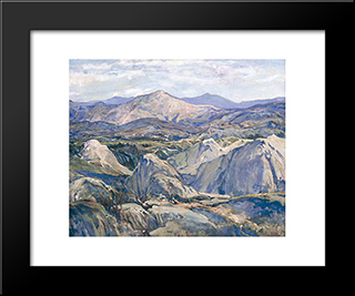 Mountains: Modern Black Framed Art Print by Charles Reiffel