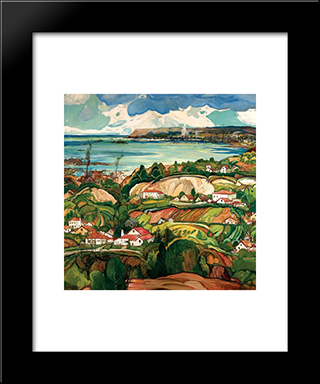 Point Loma: Modern Black Framed Art Print by Charles Reiffel