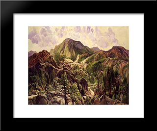 Road In The Cuyamacas: Modern Black Framed Art Print by Charles Reiffel