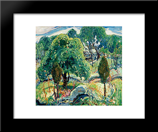 Summer Design: Modern Black Framed Art Print by Charles Reiffel