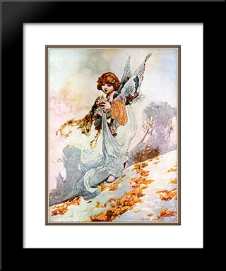 Autumn: Modern Black Framed Art Print by Charles Robinson
