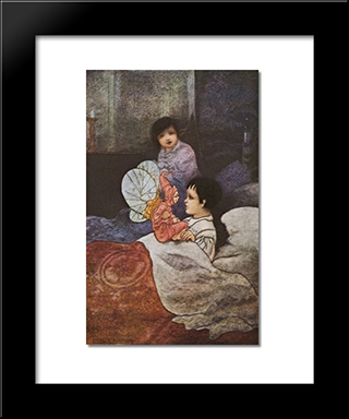He Folded His Arms And Leaned Forward Till His Eyes Looked Into Johns: Modern Black Framed Art Print by Charles Robinson