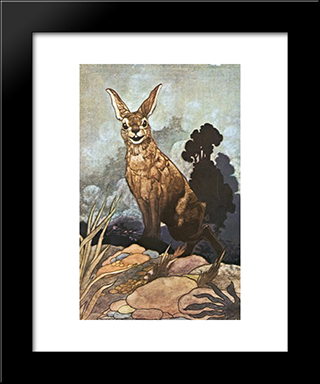 He Said I Am Surprised I Expect Its A Party: Modern Black Framed Art Print by Charles Robinson