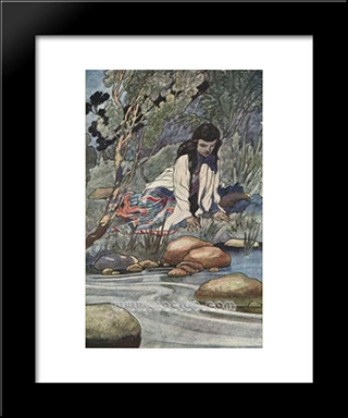 Margaret: Modern Black Framed Art Print by Charles Robinson