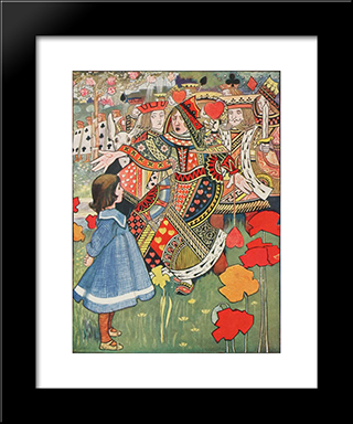 Off With Her Head: Modern Black Framed Art Print by Charles Robinson