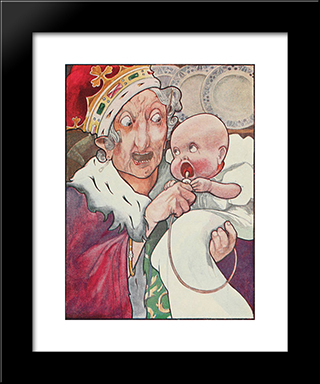 She Began Nursing Her Child Again Singing A Sort Of Lullaby To It: Modern Black Framed Art Print by Charles Robinson