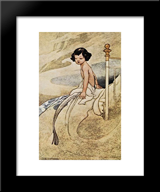 She Felt Herself Changing: Modern Black Framed Art Print by Charles Robinson