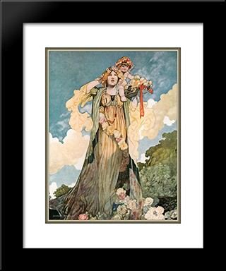 Summer: Modern Black Framed Art Print by Charles Robinson