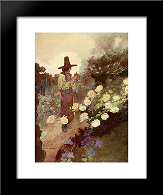 The Devoted Frieand: Modern Black Framed Art Print by Charles Robinson