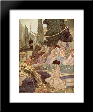 The Happy Prince: Modern Black Framed Art Print by Charles Robinson