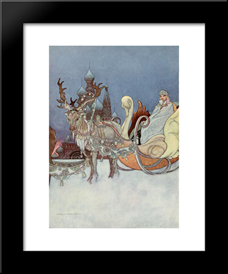 The Remarkable Rocket: Modern Black Framed Art Print by Charles Robinson