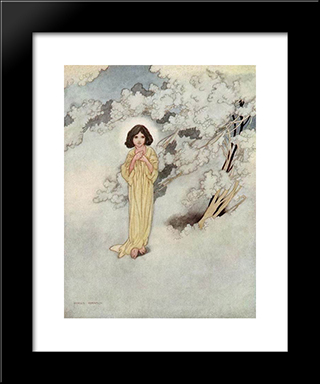 The Selfish Giant: Modern Black Framed Art Print by Charles Robinson