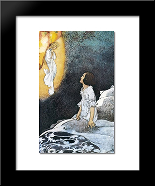 There Was A Lovely Fairy In The Air: Modern Black Framed Art Print by Charles Robinson
