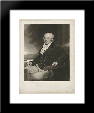 Francis North, 4Th Earl Of Guilford: Modern Black Framed Art Print by Charles Turner