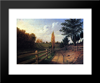 Belfield Farm: Modern Black Framed Art Print by Charles Willson Peale