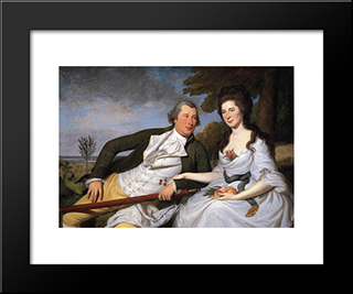 Benjamin And Eleanor Ridgley Laming: Modern Black Framed Art Print by Charles Willson Peale