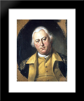 Benjamin Lincoln: Modern Black Framed Art Print by Charles Willson Peale