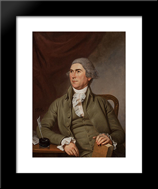 Charles Pettit: Modern Black Framed Art Print by Charles Willson Peale