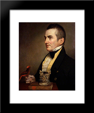 Charles Waterton: Modern Black Framed Art Print by Charles Willson Peale