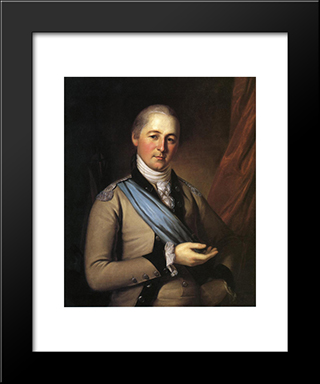 General Joseph Bloomfield: Modern Black Framed Art Print by Charles Willson Peale