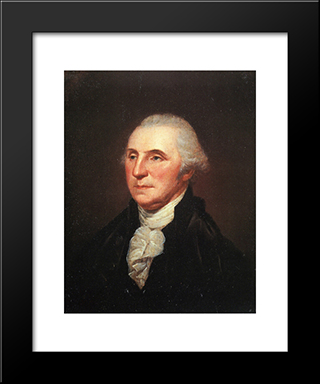 George Washington: Modern Black Framed Art Print by Charles Willson Peale