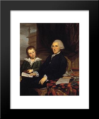 Governor Thomas Mckean And His Son, Thomas, Jr.: Modern Black Framed Art Print by Charles Willson Peale