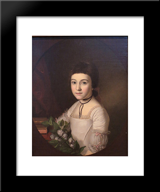 Henrietta Maria Bordley: Modern Black Framed Art Print by Charles Willson Peale