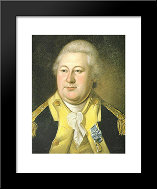 Henry Knox: Modern Black Framed Art Print by Charles Willson Peale