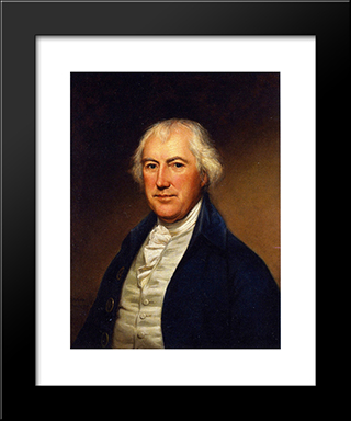 John Beale Bordley: Modern Black Framed Art Print by Charles Willson Peale