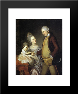 John Cadwalader Family: Modern Black Framed Art Print by Charles Willson Peale