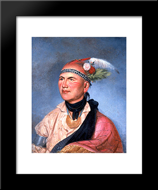 Joseph Brant: Modern Black Framed Art Print by Charles Willson Peale