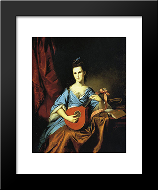 Julia Stockton (Mrs. Benjamin) Rush: Modern Black Framed Art Print by Charles Willson Peale