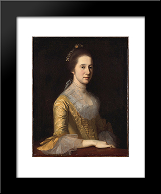 Margaret Strachan (Mrs. Thomas Harwood): Modern Black Framed Art Print by Charles Willson Peale